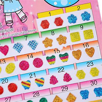 Cute Wonderful Kids Diy Earring Cartoon Reward Crystal Sticker Toys