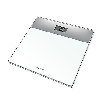 Salter Glass Electronic Bathroom Scales White 9206SVWH3R