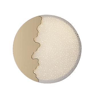 LED Round Flush dekorative Deckenleuchte, Weißgold, 4000K