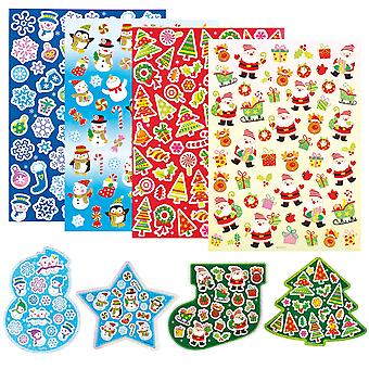 Baker ross christmas stickers value pack for kids' christmas crafts and art projects, cards, gift ta