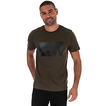 Men's Jack Jones Tonal Logo T-Shirt in grün