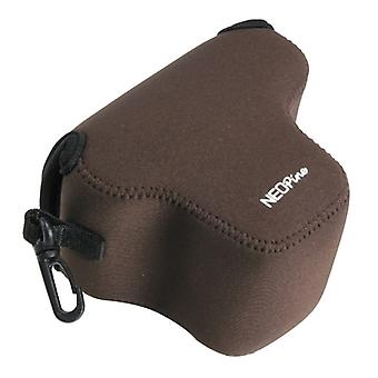 NEOpine Neoprene Shockproof Soft Case Bag with Hook for Olympus E-PL7 Camera(Coffee)