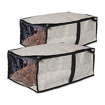 Dii Damask zapatos bajo la cama Soft Storage (conjunto de 2)