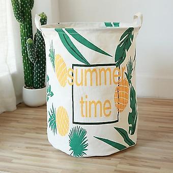 Large Cartoon Folding Laundry Basket Dirty Clothes Storage Basket