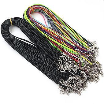 Colliers en cuir faits main 20pcs & Pendentif Charms Réglable Tressé Corde
