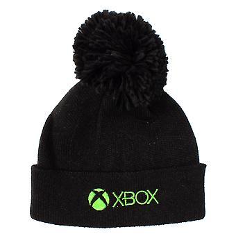 XBOX Kids Bobble Hattu | Musta vihreä beanie pelaaja lahja pojille ja tytöille | Lasten pelitavara yhden koon talvihattu