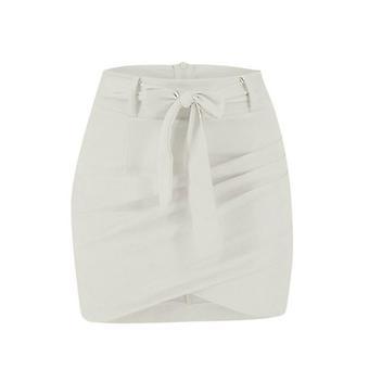 Ασύμμετρη ζώνη σουέτ φούστες, γυναίκες bodycon δέρμα άνοιξη φούστα streetwear,