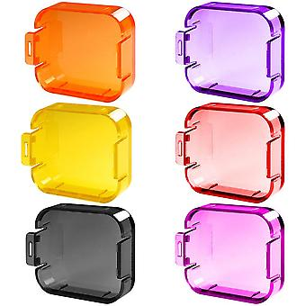 6 Pack diving lens filters for gopro hero 5 / 6, finegood color correction compensation filters for