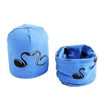 Plush Hat Scarf Set, Print Neck Collar