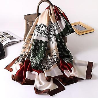 Women Summer Silk Scarves, Shawls Lady Wraps, Soft Pashimina, Female  Designer