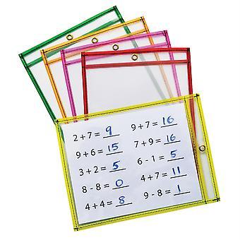 """Trockene Erase Taschen, 5 verschiedene NeonFarben, 9"""" X 12"""", 10 Taschen"""