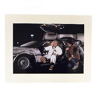 Larrini Back To The Future Marty With Doc A4 Mounted Photo
