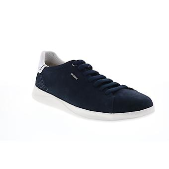 Geox U Kennet Mens Blue Suede Lace Up Euro Sneakers Chaussures