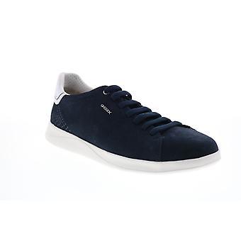Geox U Kennet Herren Blau Wildleder Schnürung Euro Sneakers Schuhe