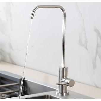 1 / 4 Brushed Drinking Water Purifier Reverse Osmosis Faucet
