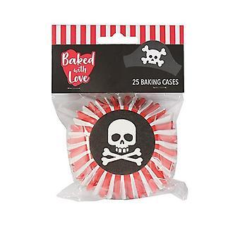 Pieczone z Love Pirate Foil Pieczenia Przypadkach - 25 przypadkach - pojedynczy