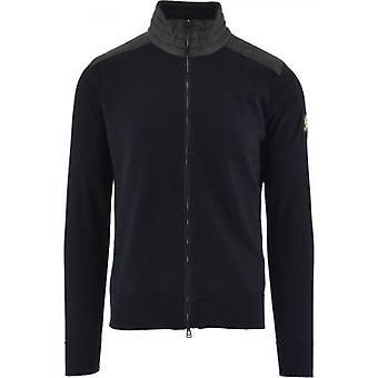 Belstaff Washed Navy Kelby Zip Sweatshirt