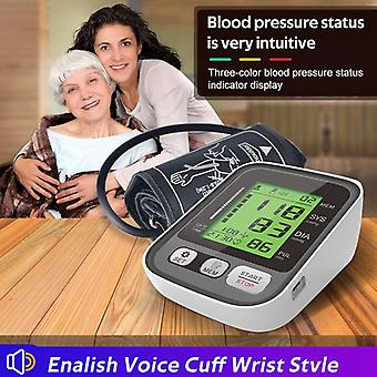 Medical equipment upper arm automatic digital blood pressure monitor rechargeable sphygmomanometer monitor heart rate pulse