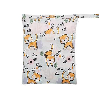 Wet Dry Bag With Two Zippered, Baby Diaper, Nappy Bags, Waterproof, Reusable,