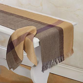 "Spura Home Indian Hand Crafted Golden Raisin Decor Table Runner 14""x72"""