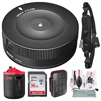 Sigma usb dock for canon ef-mount lenses with 16gb, xpix camera lens cleaning kit, and deluxe bundle