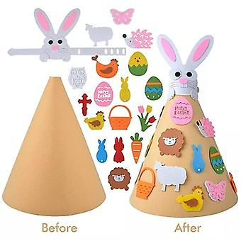 Eatser Rabbit Felt Crafts Diy Rabbit Felt Craft Ornaments With Hanging Craft Kits For Kids Easter Birthday Party Favor