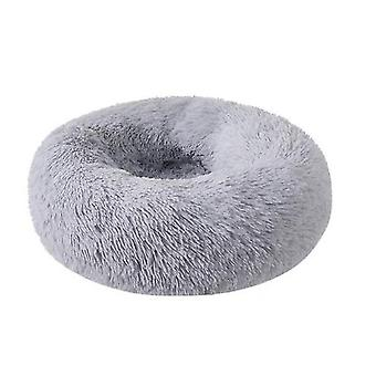Dog Cat Bed, Round Warm Calming Pet Bed, Soft Puppy Sofa