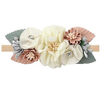 Pearl Artificial Flower Headband For, Elastic Headbands Floral Toddler