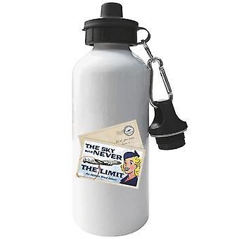 Pan Am The Sky Was Never The Limit Aluminium Sports Water Bottle