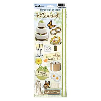 Paper House Productions - Cardstock Stickers - Just Married