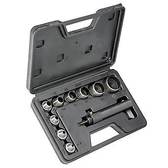 10pcs Heavy Duty Hollow Punch Kit Sæt Pakning Læder Gummi Stansning Diy