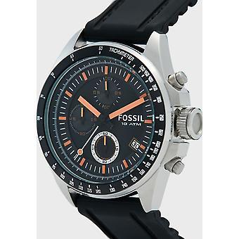 化石ウォッチ クロノグラフ レディース シリコーンのアナログクォーツ腕時計 CH2647