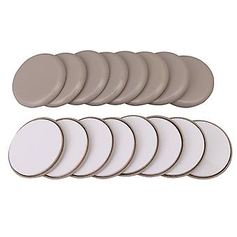 16x Durable Furniture Round Moving Slider for Sofa Table 63x8mm Gray