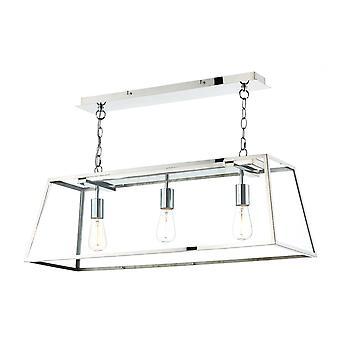 Straight Bar hänge lätt rostfritt stål, 3x E27
