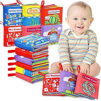 FengChun Stoffbuch fr Babys, Stofftuchbcher mit Motiven, Bildung Fhlbuch mit Ungiftig und sicher,