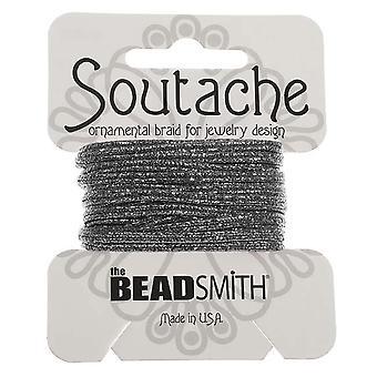 و Beadsmith محكم المعدنية Soutache مضفر الحبل 3mm -- بندقية معدنية (3 ياردات)