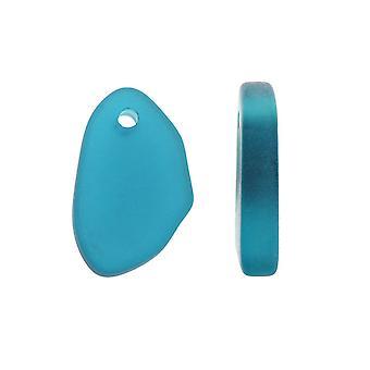 Endeligt salg - Kulturperler Havglas, Freeform Charms Diverse Variety Pack 10-15mm, 12 stykker, Teal Blue