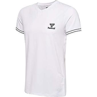 hummel HMLWYATT S/S-T-Shirt for Men, Men,White, XL