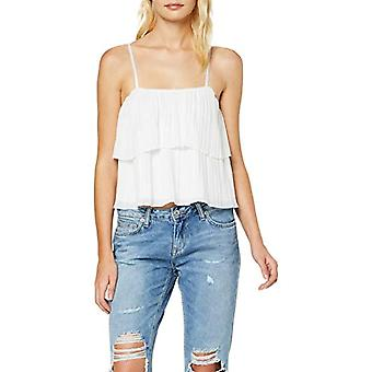 New Look Pleated Strappy Layer Crop T-Shirt, White (White 10.0), 40 Woman(1)