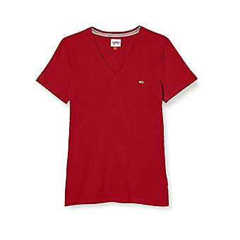 Tommy Jeans TJW Slim Jersey VN Shortsleeve T-Shirt, Red Marc, S Woman