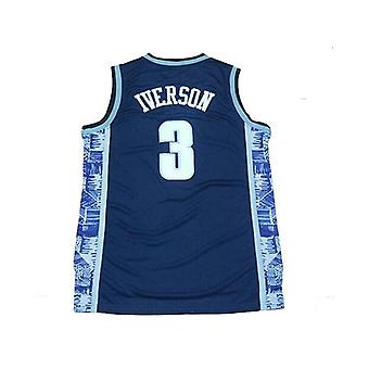 Men's Georgetown Collegiate Athletic #3 Retro Embroidered Basketball Jersey