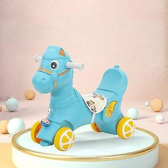 Lasten keinuva hevonen Troijan lasten varhaiskasvatus liukuva musiikkiauto vauva