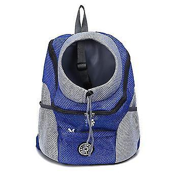 S albastru portabil pentru animale de companie rucsac x5024