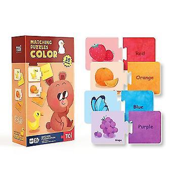 Color cognitive matching puzzles children's educational paper puzzles dt5303