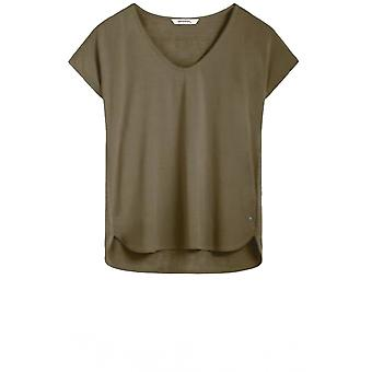 Sandwich Clothing Olive Silky Front Top
