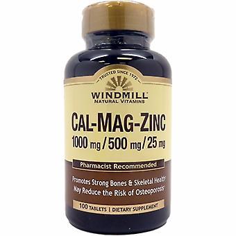 Windmill Health Calcium - Magnesium & Zinc, 100 Tabs