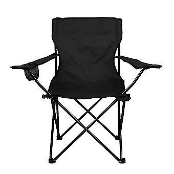Chaise pliante portable extérieure noire pour barbecue de camping pique-nique pêche voyage az10628