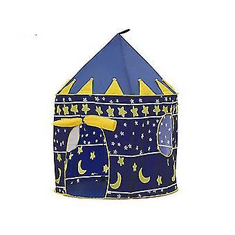 Teltta hehkuvalla taitettavalla pop up -vaaleanpunaisella leikkiteltta-talon lelulla (sininen)