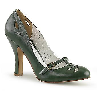 Pin Women's Shoes Up Forest Green Faux Leather