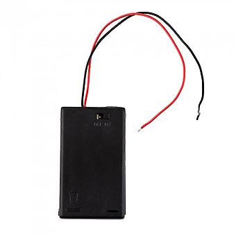 Battery Cover Box Plastic Holder With On/off Switch For 3 X Aaa Batteries